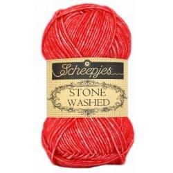 Stone Washed. Pendikte 3-3,5 mm. Kleur 823. Carnelian.  Scheepjeswol.
