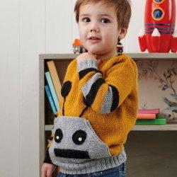 Gratis geprint patroon (engels) Robot Pocket Sweater
