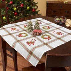 Tissu de Marie Borduurpakket voorb. tafelkleed 80x80cm 29012-DB0243