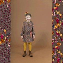 Stof voor jurkje model Fien uit Stitched By You herfst winter 2020 art 14260 Taupe 054