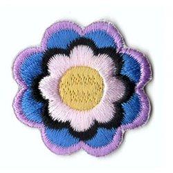 Applicatie Bloem blauw-lila