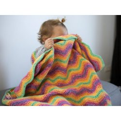 Gratis geprint patroon Ripple Blanket gemaakt van Durable Cosy fine faded,