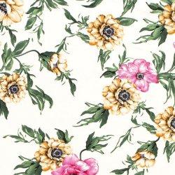 LET OP PRESALE Crepe Georgette bloemen 15219 wit 050