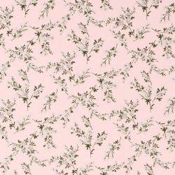 LET OP PRESALE Crepe Georgette bloemen 15222 Roze 012