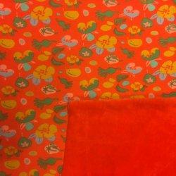 AlpenFleece bloem oranje 113 010