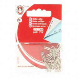 HAKEN EN OGEN 12mm Zilverkleurig 100219-3-N