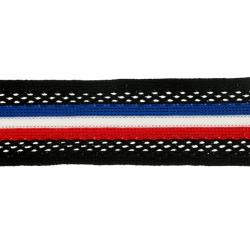 Flexibel band voor zijkant broek of colbert 30mm Rood wit blauw 60980-30