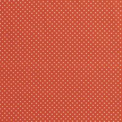 Poplin Katoen met kleine stipjes 05575 oranje 036