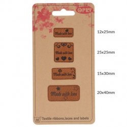 OPRY SKAI-LEREN LABELS MADE WITH LOVE 69650-03