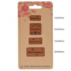 OPRY SKAI-LEREN LABELS MADE WITH LOVE FOR YOU 69650-04