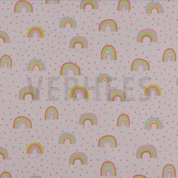 Poplin Glitter Regenboog 08239V Roze 004
