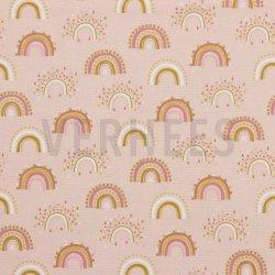 Flannel Katoen Regenboog 08803 Roze 002
