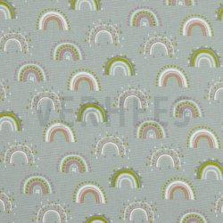 Flannel Katoen Regenboog 08803 grijs 005