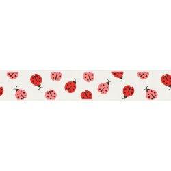 RIPSLINT LIEVEHEERSBEESTJE 25MM 22382-25-009 wit roze