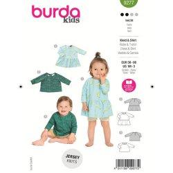 Burda 9277 Shirt en Jurkje van Tricot