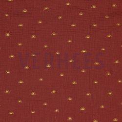 Double Gauze Gots Sunshines 08854V Rouge 014