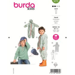 Burda 9279 Jumpsuit van jogging, Fleece, kunstleer of Borg