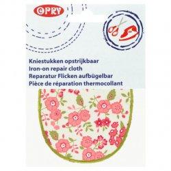 OPRY KNIESTUKKEN OPSTRIJKBAAR BLOEM 11,5X9CM 102371 kleur 59 wit roze