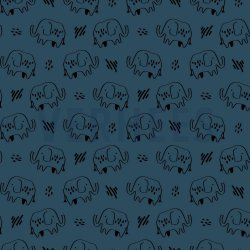 SOFT SWEAT GOTS Olifant 08840V Blauw 010
