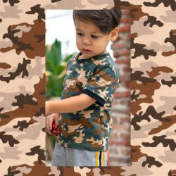Tricot Camouflage 14428 Groen 027