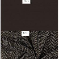 Combi Viscose Crepe Uni en Tweed Golden Charmes