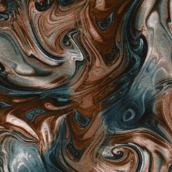 Viscose Stof Discharge Abstract 16184 Brique 056