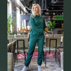 Stof voor Sweater en broek M2151 en M2152 My Image herfst winter 2021 art Alpenfleece Uni 14370 groen 028