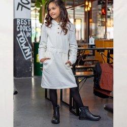 Stof voor jurkje model B2164 uit BTrendy herfst winter 2021 art French Terry 92% Katoen 05470 Ecru 051