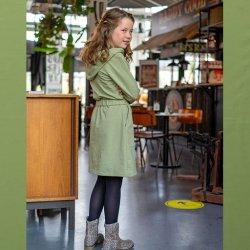 Stof voor jurkje model B2164 uit BTrendy herfst winter 2021 art French Terry 92% Katoen 05470 Groen 027