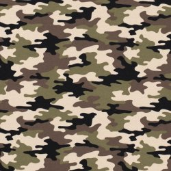 LET OP PRE-ORDER French Terry Stof Camouflage16551 Kakigroen 026