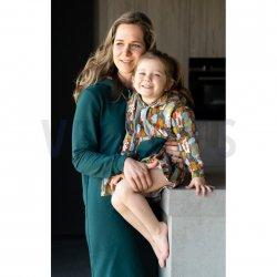 LET OP PRE-ORDER Stof voor jurk model P2135 uit Poppy 17 herfst winter 2021 French Terry Gots Uni 95% Katoen 09107V Groen 013