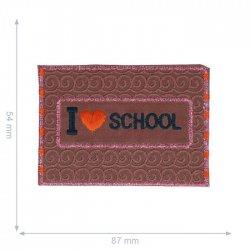 APPLICATIE LOVE SCHOOL REFLECTEREND 87X54MM 10228791