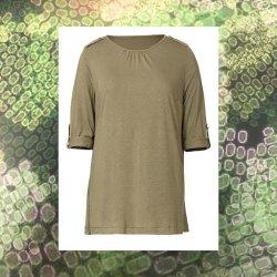 Stof voor Shirt model A van Burda 6217 Tricot Stof van Viscose Bloemen 113 017