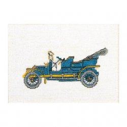 Thea G.Opel 1909 op aida of linnen