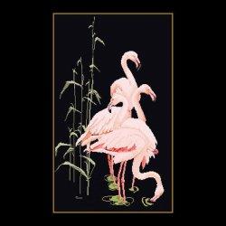 Thea G.Flamingo's op Aida, Aida Zwart of linnen