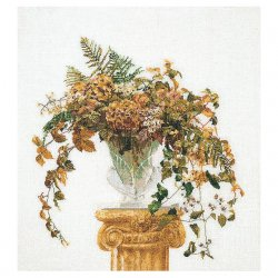 Thea G.Herfst bouquet op Aida of Linnen