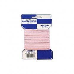 Baby en Kleuter elastiek 5 mtr. roze 50019R-10