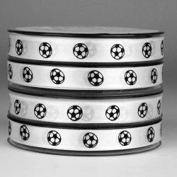 Lint voetbal 15mm zwart-wit