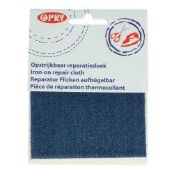 Opry Reparatiedoek jeans opstrijkbaar 10x40cm middenblauw