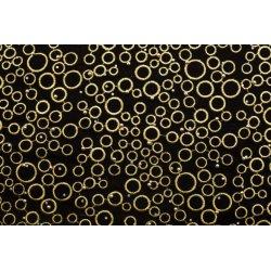 Velvet borduurwerk met parels Zwart met beige 080