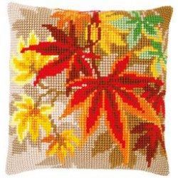 Kruissteekkussen kit Herfstbladeren