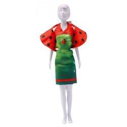 Barbie 29 cm.  1 strapless en 1 halterjurkje, bolero, en handtasje,