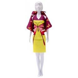 Barbie 29 cm. Set van 1 strapless en 1 halterjurkje, bolero, en handtasje,