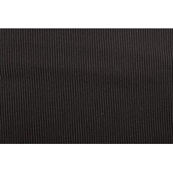 Gabardine met kleine strepen zwart 10271 069