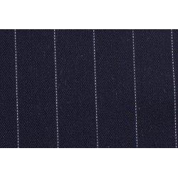 Gaberdine met grote strepen  stretch blauw 10270 008