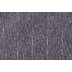 Gaberdine met grote strepen stretch grijs 10270 063