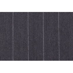 Gabardine met grote strepen stretch grijs 10270 068