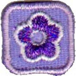 Applic. Bloem lila in klein vierkant