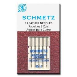 Schmetz leder. Pakje 5 stuks.