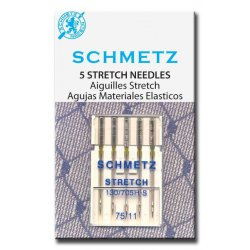 Schmetz stretch. In diktes 75 en 90. Pakje 5 naalden.